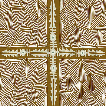 Shaman VooDou Map  by Vagabond Folk Art - Virginia Vivier