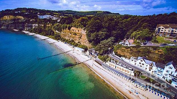Shanklin from out at Sea by Owen Hunte