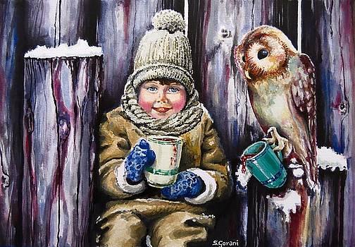 Sharing a hot chocolate by Geni Gorani