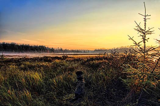 Dale Kauzlaric - Sharing A September Sunrise With a Retriever