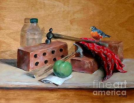 Sharing Lunch Break by Patricia Lang