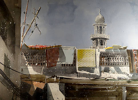 Sharjah Mosque and Laundry by Martin Giesen