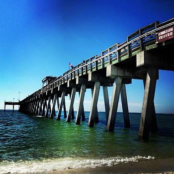 Sharky's Fishing Pier by Kristen  Mills