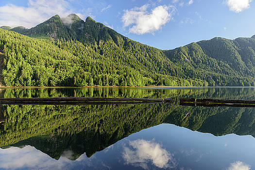 Sharlotte Islands Reflection by Christian Heeb