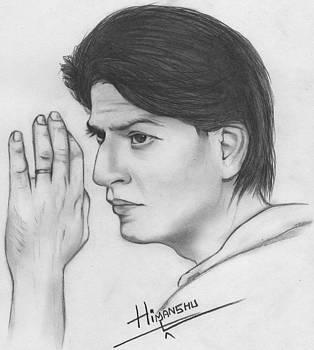 Sharukh khan portrait by Himanshu Jain