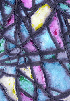 Shattered Life in pastel by Wayne Potrafka