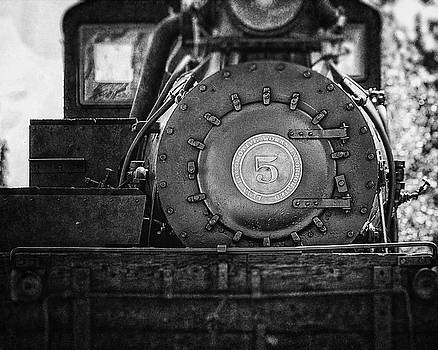Lisa Russo - Shay Number 5 Locomotive in Black and White