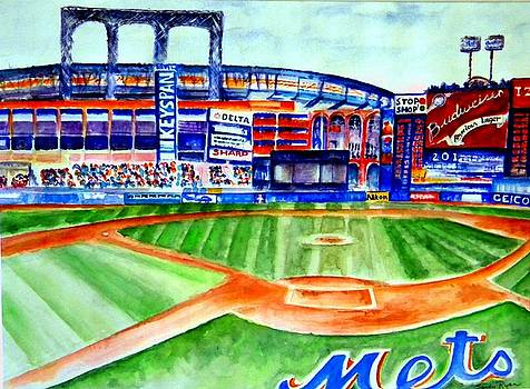 Shea Stadium by Sandy Ryan