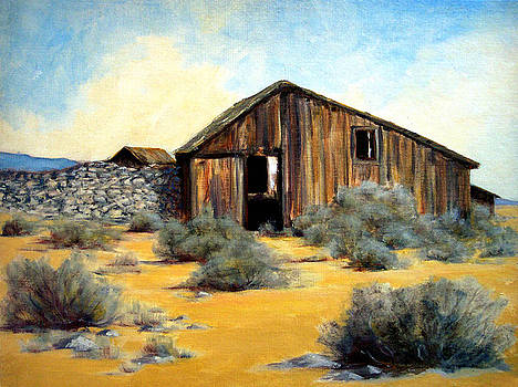 Shed and Wall by Evelyne Boynton Grierson