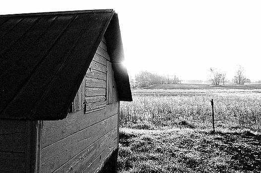 Shed in Morning Sun by Lars Lentz