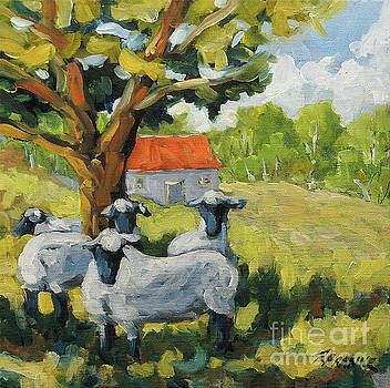 Sheep and Shade by Richard T Pranke