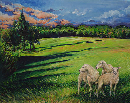 Sheep at Dusk by Lisa Kimberly Glickman