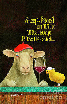 Will Bullas - sheep-faced on wine with some Basque chick...