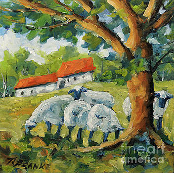 Sheep on the Farm by Richard T Pranke