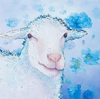 Jan Matson - Sheep painting on poppies background
