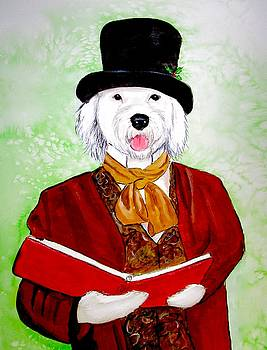 Sheepdog Caroler by Carol Blackhurst