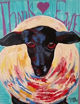 Sheepishly thank ewe by Cindy Large