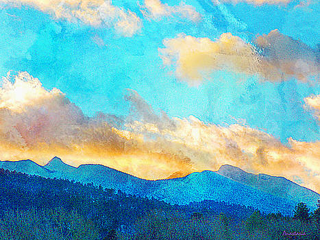 Sheeps Head and Truchas Peaks-Predawn December by Anastasia Savage Ealy