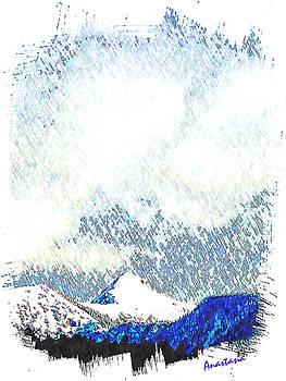 Sheep's Head Peak April Snow by Anastasia Savage Ealy