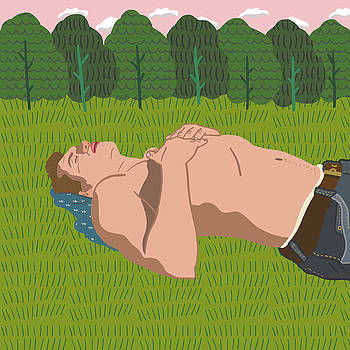 Sheep's Meadow Dreaming by Nicole Wilson
