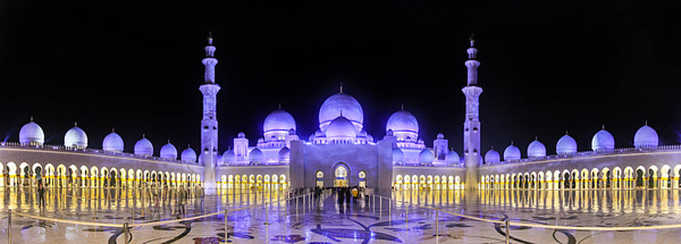 Sheikh Zayed Mosque Panorama View by Yogendra Joshi