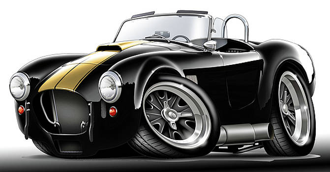 Shelby Cobra Black-Gold Car by Maddmax