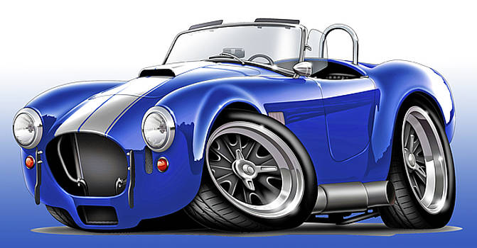 Shelby Cobra Blue-White Car by Maddmax
