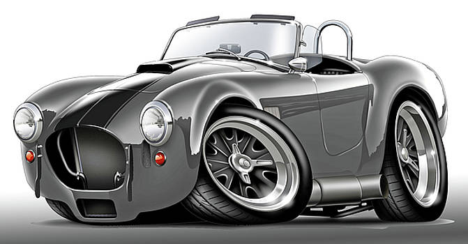 Shelby Cobra Grey-Black Car by Maddmax