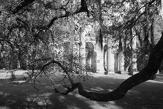 Sheldon Church Ruins BW 3 by Gordon Mooneyhan