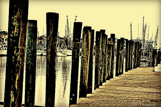Shem Creek Dock by Jill Tennison