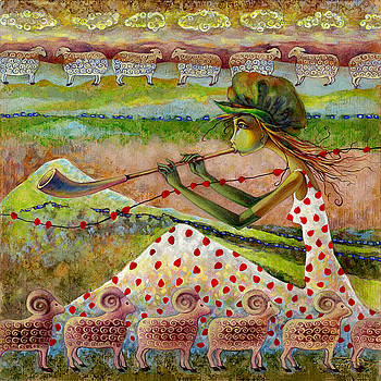 Shepherds with strawberry dress by Una Lune