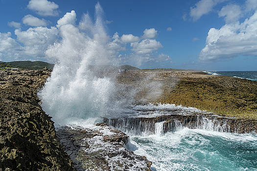 Shete Boka National Park with crashing waves  Views around Curac by Gail Johnson