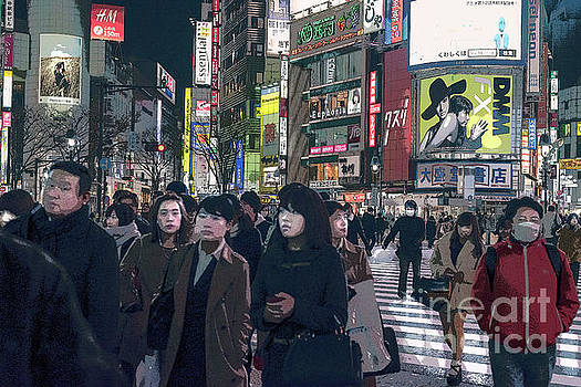 Shibuya Crossing, Tokyo Japan Poster 2 by Perry Rodriguez