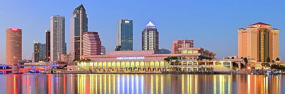 Frozen in Time Fine Art Photography - Shimmering Lights in Tampa Harbor