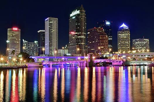 Frozen in Time Fine Art Photography - Shimmering Shining Tampa Lights