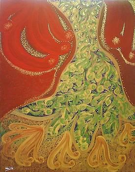 Shimmering Tree by Ira Samyra