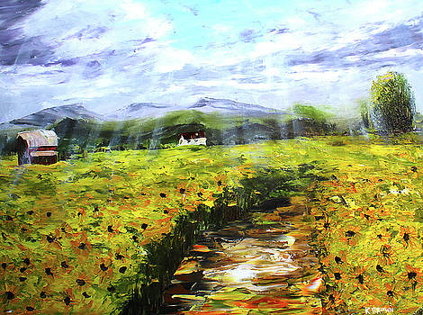 Shining on the Sunflowers by Kevin Brown