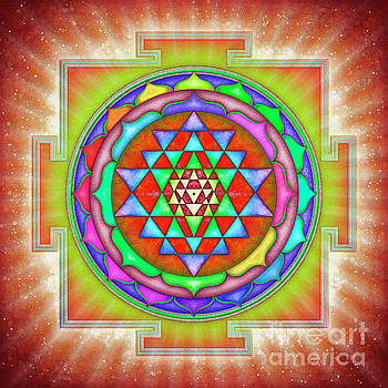 Shining Sri Yantra Mandala II by Dirk Czarnota