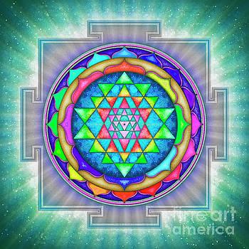 Shining Sri Yantra Mandala III by Dirk Czarnota