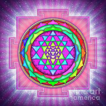 Shining Sri Yantra Mandala I by Dirk Czarnota
