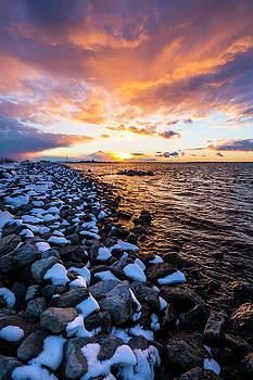 Shinnecock Bay Winter Sunset by Ryan Moore