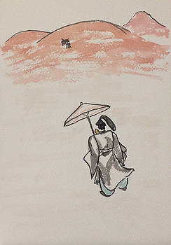 Shinto Priest In Search of Buddhist Temple by Sawako Utsumi