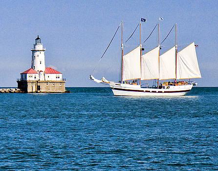 Ship in Chicago Harbor by Paul Bartoszek