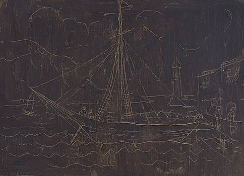 Wood Christopher - Ship In Harbour 1928