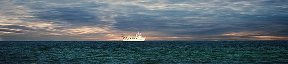 Ship on the Horizon 1 by Scott Fracasso