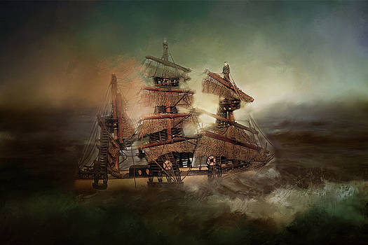 Ship on Troubled Sea by TnBackroadsPhotos