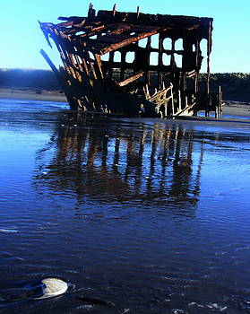 Ship Wreck at Fort Stevens Park Oregon by Steve Patton