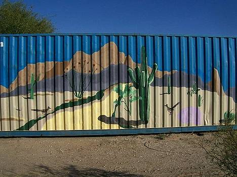 Kathleen Heese - Shipping Crate Mural