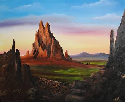 Shiprock NM by John Johnson