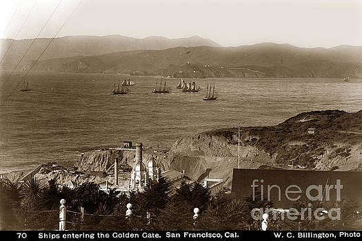 California Views Mr Pat Hathaway Archives - Ships entering the Golden Gate San Francisco 1896